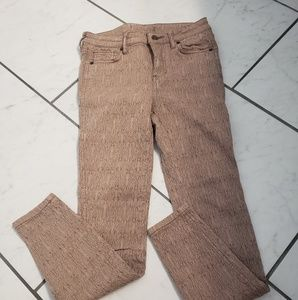 Free People tan with lace overlay skinny Jeans